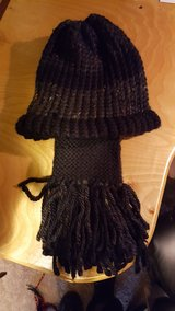 Loom knitted scarf and hat set in Tacoma, Washington