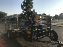 14 foot utility trailer with added side rails in Fairfield, California