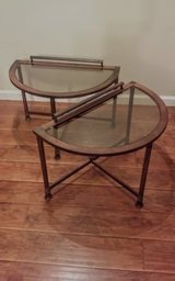 Wrought Iron / Glass End Tables in Yucca Valley, California