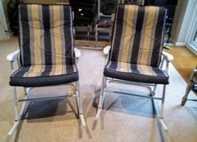 2 Sun Lounge Rocking Folding Chairs & Glass Table Nbr 35 & 35a in Lakenheath, UK