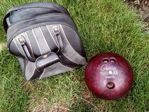 Mens Bowling Ball with Case - Nbr 14 in Lakenheath, UK