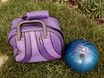Womens Bowling Ball and Carrying Bag in Lakenheath, UK