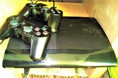 PS3 slim ,2 controllers, 24 disk games 4 internal games (110v, will throw in a converte... in Wiesbaden, GE