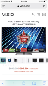 "Vizio M Series 50"" 1080P in Yokota, Japan"