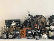 Set of Halloween decorations in Eglin AFB, Florida