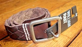 William RAST Mens BROWN Braid Leather Belt 34 NWT $89 retail! in Fort Knox, Kentucky