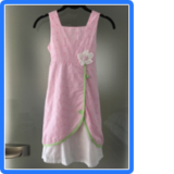 Pink summer dress in Spangdahlem, Germany