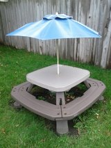Little Tykes Kids Outdoor Picnic Table with umbrella in Naperville, Illinois