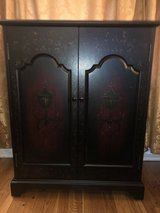 Black and Cherry Finish Cabinet in Lockport, Illinois