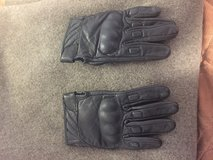 Leather motorcycle gloves in Camp Pendleton, California