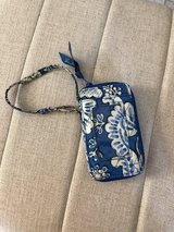 Vera Bradley blue and white wristlet in The Woodlands, Texas