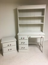 Desk, bookcase and side table in New Lenox, Illinois
