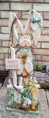 Happy Easter Bunny Statue - Nbr 60 in Lakenheath, UK