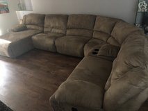 Ashley Sectional Sofa w 2 Recliners in Fort Jackson, South Carolina