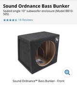 "Sound Ordnance BB10-50S 10"" Sub Box- Brand New in Ramstein, Germany"