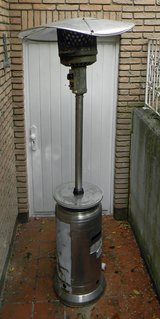 Outdoor patio heater in Ramstein, Germany