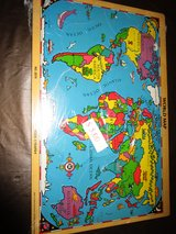 WORLD MAP PUZZLE in Shorewood, Illinois