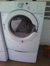 Whirlpool Duet Front Loader Dryer works great has some cosmetic damage. in Macon, Georgia