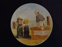 Fish Story Plate - 8-1/2 diameter - registered number in Spring, Texas