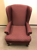 Maroon Wing-Back chairs in Conroe, Texas