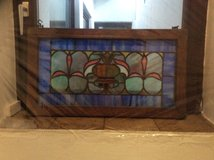 Antique stained glass mirror-reduced, in Stuttgart, GE