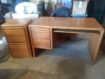 Desk and matching file cabinet in Yucca Valley, California