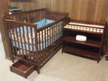 Crib and changing table in Sandwich, Illinois