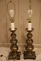 Lamps - Stiffel Solid Brass  35 inches tall to top of harp in Naperville, Illinois