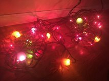 2 strings of spider lights in Oswego, Illinois