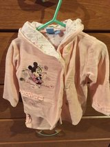 Minnie Mouse Disney pink velvet winter baby outfit Sz 18m in Morris, Illinois