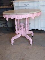 early antique entry way table in Cherry Point, North Carolina