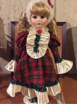 Christmas blonde porcelain doll in Morris, Illinois