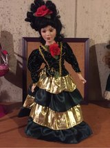 Spanish Lady brunette porcelain doll in Morris, Illinois