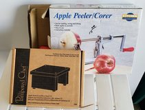 Apple peeler and stand in Minot AFB, North Dakota