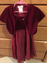 dark red formal dress girls sz6 in Morris, Illinois