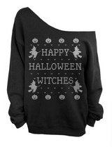 Slouchy Sweatshirt, Halloween Witches, sz M in Fort Campbell, Kentucky
