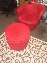 Red Microfiber Chair and Ottoman Set in Fort Campbell, Kentucky