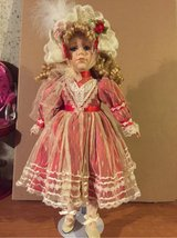 Christmas porcelain doll in Morris, Illinois