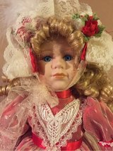 Christmas porcelain doll in Yorkville, Illinois