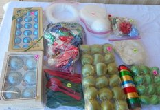 Xmas Ornaments, Bows, Plastic Forks, BOX 80 in Alamogordo, New Mexico