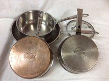 POTS AND FRYING PAN**  Brand:PREMIUN CHEFMATE 3 PC.and 1 PC.SAFFRON* in Okinawa, Japan