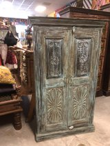1920s Rustic Blue Old Doors Armoire Cabinet in Fort Rucker, Alabama