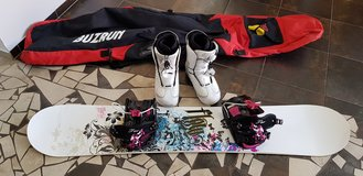 Snowboard, boots, and bag in Ramstein, Germany