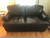 2 seater leather sofa/ couch in Cherry Point, North Carolina