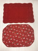 Two Red Christmas Placemats in Elizabethtown, Kentucky