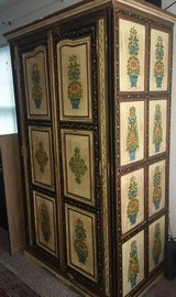 Gorgeous Hand Painted Indian Cabinet in Beaufort, South Carolina