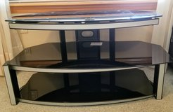 Glass and Stainless TV Stand in Alamogordo, New Mexico