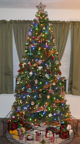 Christmas Tree realistic in 29 Palms, California