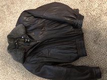 Leather bomber jacket in Barstow, California