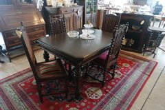 antique dining room set with 4 chairs in Ramstein, Germany